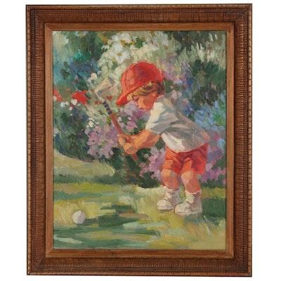 Corinne Hartley Children's Genre Oil Painting