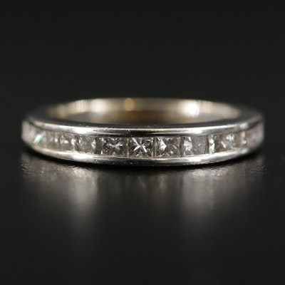 14K White Gold 0.75 CTW Diamond Band
