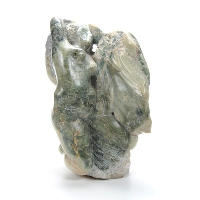 Carved Stone Figural Sculpture