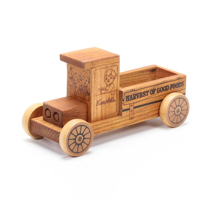"""Campbell's """"Harvest of Good Foods"""" Wooden Toy Truck"""