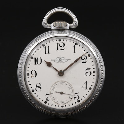 1919 Ball Official Standard Open Face Pocket Watch
