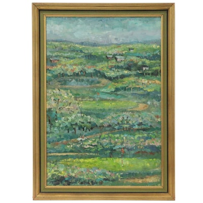 Oil Painting of a Golf Course