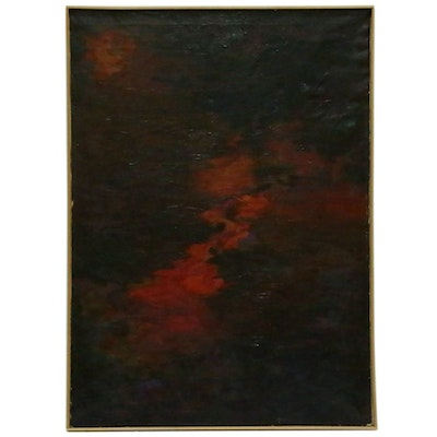 Dale Diamond Abstract Oil Painting, Mid to Late 20th Century