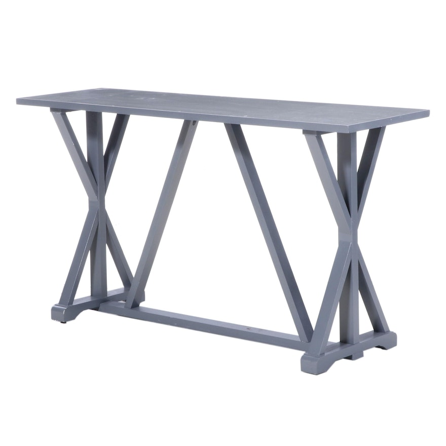Contemporary Painted Wood Console Table