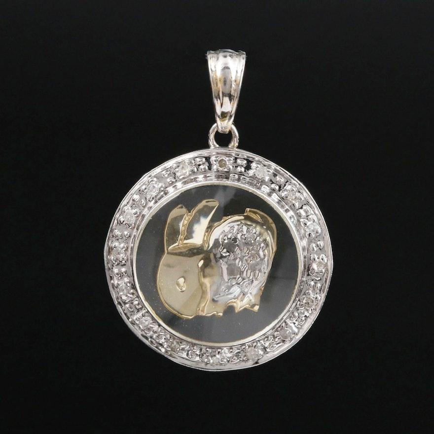 18K Gold Diamond Articulated Rabbit