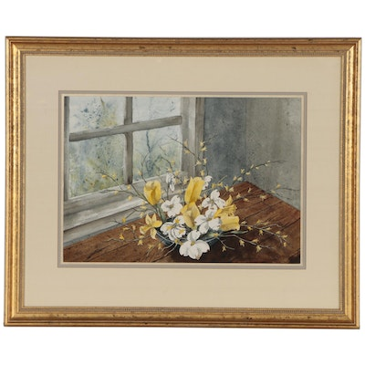 Gregory D. Sharpe Still Life Watercolor Painting