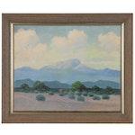 George Bickerstaff Desert Landscape Oil Painting