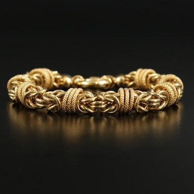 Milor Bronze Byzantine Link Chain Bracelet