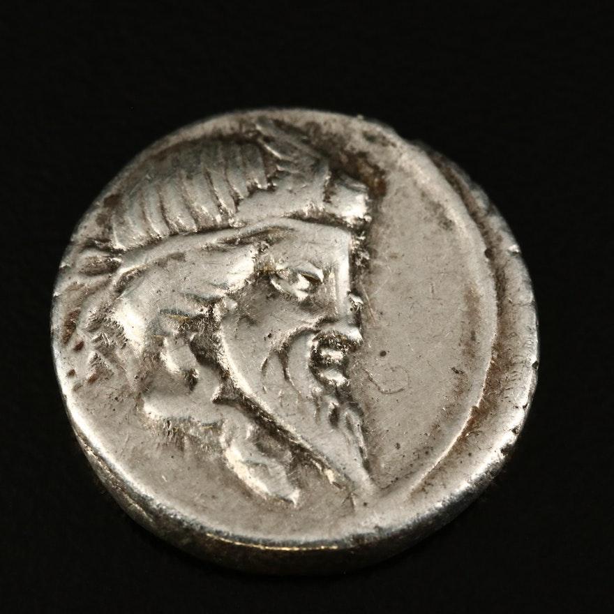 Ancient Roman Republic AR Denarius of Q. Titius, Pegasus, ca. 90 B.C.