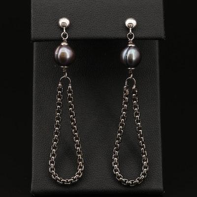 Honora Sterling Silver Pearl Drop Earrings
