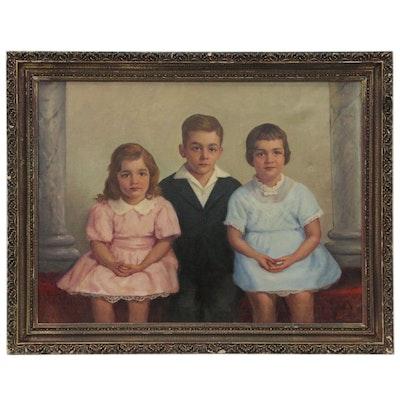 Harvey Brownson Oil Painting of Children