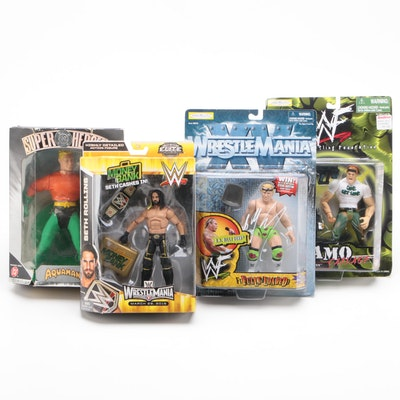 Wrestling and Aquaman Action Figures with Billy Gunn Autograph
