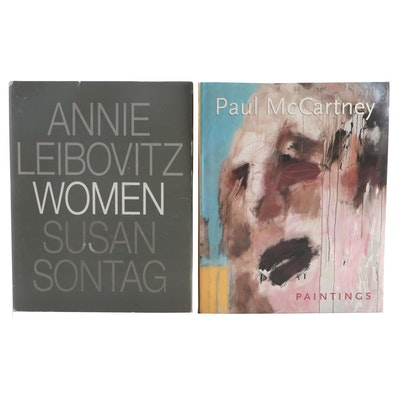 "First Edition Art Books ""Paul McCartney Paintings"" and ""Women"" by Leibovitz"