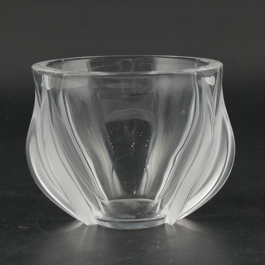 """Lalique """"Deux Tulipes"""" Art Nouveau Crystal Vase"""