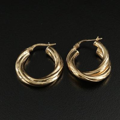 Milor 18K Twisted Hoop Earrings