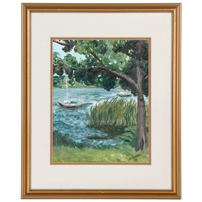 S.B. Brooke Landscape Oil Painting, 1990