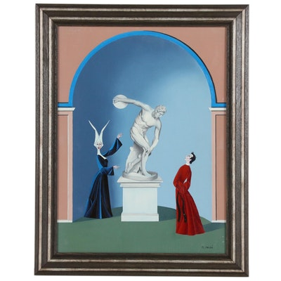 "Maurizio Massi Oil Painting ""Le Lancina"""