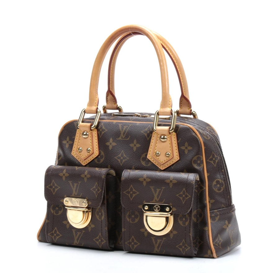 Louis Vuitton Manhattan PM Bag in Monogram Canvas and Vachetta Leather