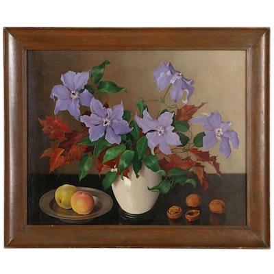 Johannes Baptiste Nicholas van Gent Still Life Oil Painting
