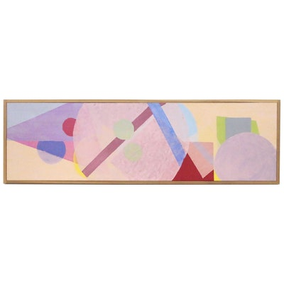 Abstract Oil Painting of Shapes