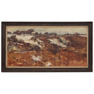 Alan Robert Chiara Landscape Oil Painting