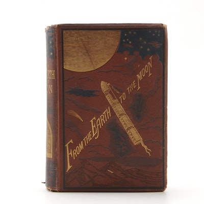 "1874 First American Edition ""From the Earth to the Moon"" by Jules Verne"