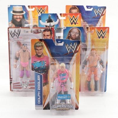 """Mattel Wrestling """"Superstars"""" Action Figures with Ziggler and Slater Autographs"""