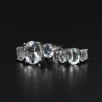 Sterling Silver Aquamarine Rings