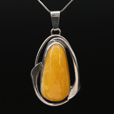 Sterling Silver Copal Pendant Necklace