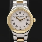 Baume & Mercier Riviera 18K Gold and Stainless Steel Quartz Wristwatch