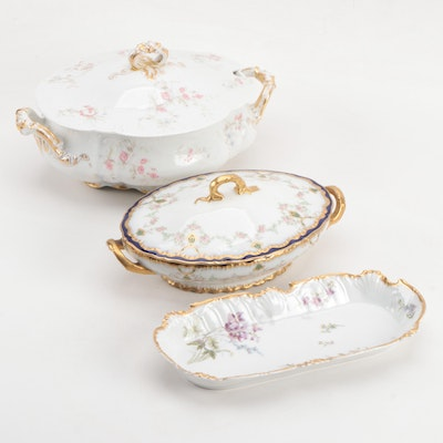 Haviland and Tressemann & Vogt Porcelain Serveware, Late 19th/Early 20th Century