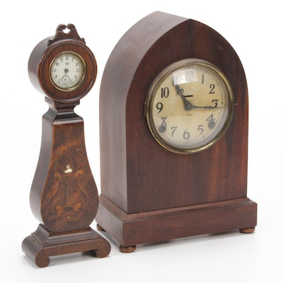 Jennings Brothers and Ingraham Desk and Mantle Clocks