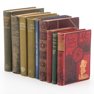 """Children's Books including 1865  """"The Life and Adventures of Robinson Crusoe"""""""