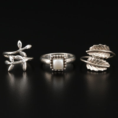 Collection of Sterling Silver Ring Featuring Silpada