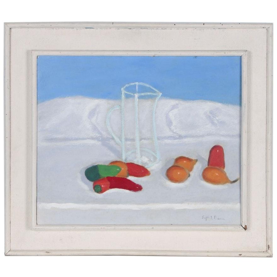 Edgar S. Baum Still Life Oil Painting, Mid-20th Century
