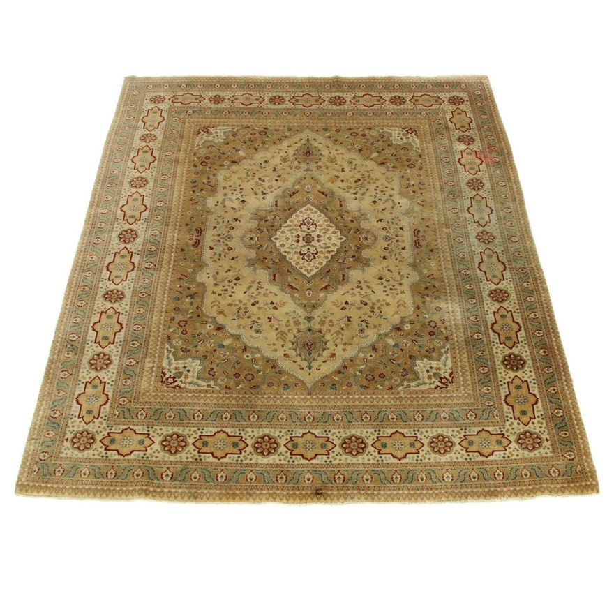 7'10 x 9'8 Hand-Knotted Indo-Persian Tabriz Rug