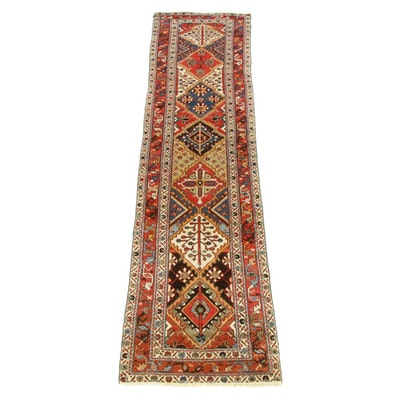3'4 x 12'11 Hand-Knotted Indo-Caucasian Wide Runner Rug