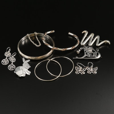 Vintage Sterling Silver Jewelry Selection