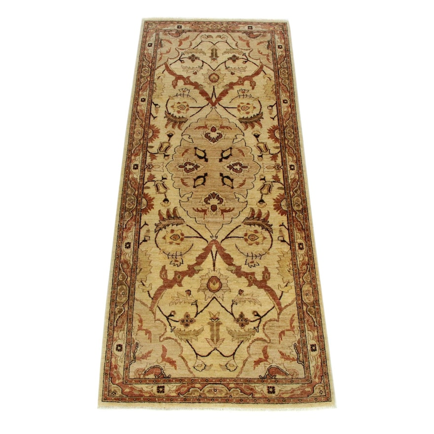 4'0 x 10'4 Hand-Knotted Afghani Persian Tabriz Wide Runner Rug