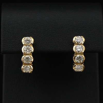 18K Gold 1.75 CTW Diamond Drop Earrings