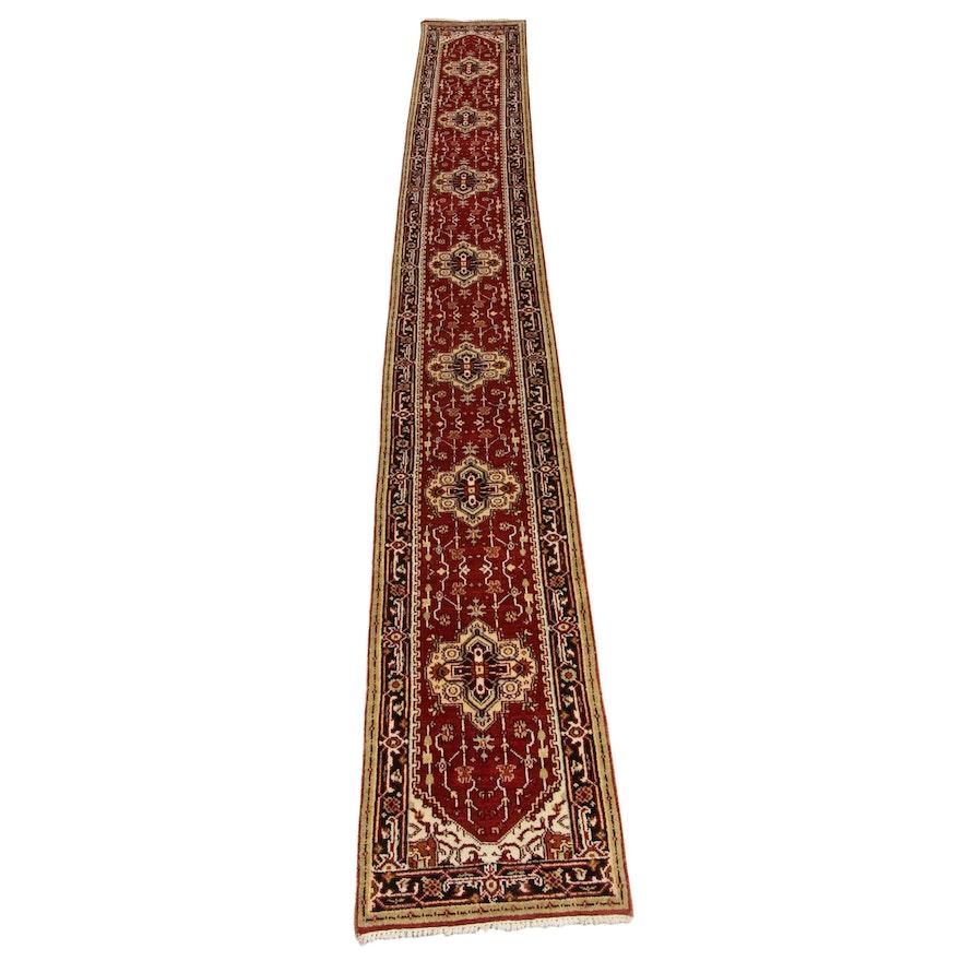 2'6 x 20'3 Hand-Knotted Indo-Persian Heriz Carpet Runner