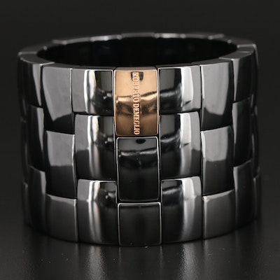 Roberto Demeglio Ceramic and 18K Gold Expandable Bracelet