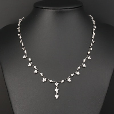 18K Gold 1.29 CTW Diamond Necklace