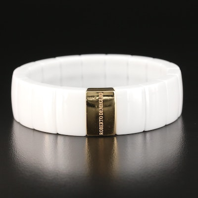 Roberto Demeglio 18K Gold and Ceramic Expandable Bracelet