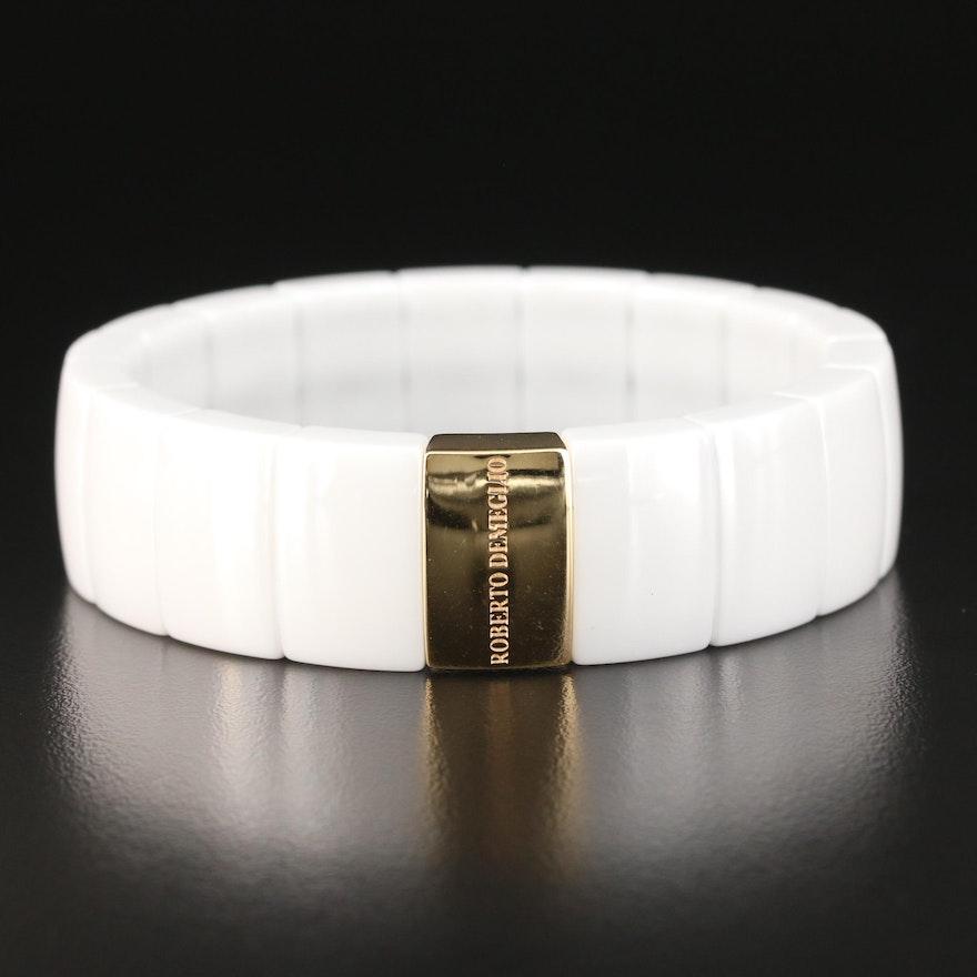 Roberto Demeglio 18K Gold and Ceramic Expandable Bracelet