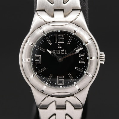 Ebel E Type Stainless Steel Quartz Wristwatch