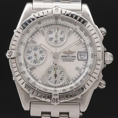 Breitling Chronomat GT Mother of Pearl Dial Stainless Steel Automatic Wristwatch