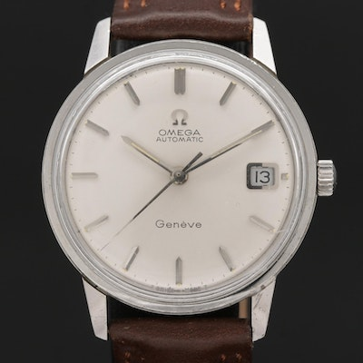 1968 Omega Genève Stainless Steel Automatic Wristwatch