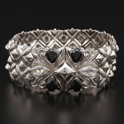 "Stephen Webster ""Superstud"" Sterling Silver Spinel and Quartz Bracelet"