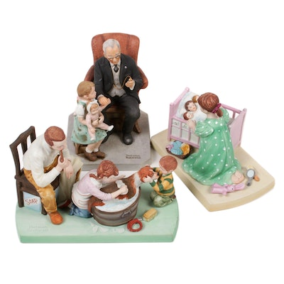 "Norman Rockwell Museum ""Little Patient"" and Other Porcelain Figurines"